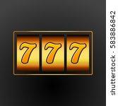 lucky seven 777 slot machine.... | Shutterstock .eps vector #583886842