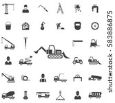 loader icon. construction icons ... | Shutterstock . vector #583886875