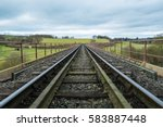 Railway Tracks Passing Over A...