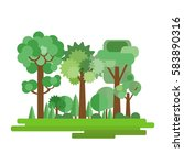 vector illustration of forest... | Shutterstock .eps vector #583890316