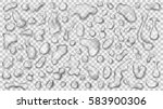 set of gray translucent drops... | Shutterstock .eps vector #583900306