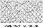 Set Of Gray Translucent Drops...