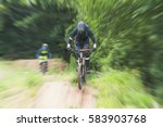 Blurred Image With Jump Cyclist ...