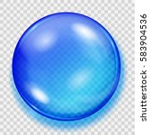 big translucent blue sphere... | Shutterstock .eps vector #583904536