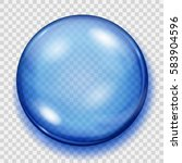 big translucent blue sphere... | Shutterstock .eps vector #583904596