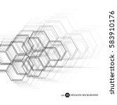 hexagonal geometric background. ... | Shutterstock .eps vector #583910176