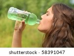 thirsty teenager | Shutterstock . vector #58391047
