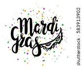 inscription mardi gras with... | Shutterstock .eps vector #583913902