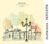 Gondola Pier In Venice  Italy....
