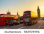 big ben  westminster bridge and ... | Shutterstock . vector #583929496