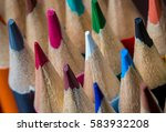 closeup of sharpened color... | Shutterstock . vector #583932208