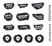 ink brush sale stripes and... | Shutterstock . vector #583936546