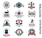 fashion nautical logo sailing... | Shutterstock .eps vector #583937806