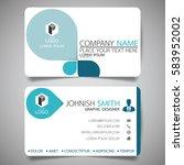 blue modern creative business... | Shutterstock .eps vector #583952002