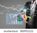 businessman with financial... | Shutterstock . vector #583952122