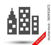 city icon. simple flat logo of...