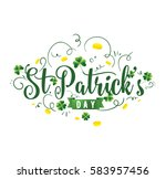 saint patricks day. 17 march.... | Shutterstock .eps vector #583957456