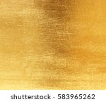 shiny yellow leaf gold foil... | Shutterstock . vector #583965262