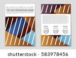 abstract vector layout... | Shutterstock .eps vector #583978456