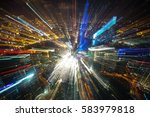 defocus aerial view of shanghai ... | Shutterstock . vector #583979818