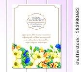 vintage delicate invitation... | Shutterstock .eps vector #583980682
