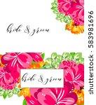 romantic invitation. wedding ... | Shutterstock .eps vector #583981696