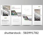 flyers set  modern banners.... | Shutterstock .eps vector #583991782