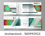 business templates for tri fold ... | Shutterstock .eps vector #583992922