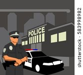 law enforcement illustration... | Shutterstock .eps vector #583998982