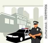 law enforcement illustration... | Shutterstock .eps vector #583999006