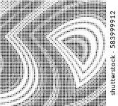abstract grunge grid polka dot... | Shutterstock .eps vector #583999912
