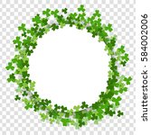 green clover saint patrick day...   Shutterstock .eps vector #584002006