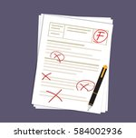 bad score of the test  with the ...   Shutterstock .eps vector #584002936
