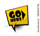bubble icon speech phrase.... | Shutterstock .eps vector #584005756