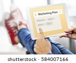 marketing plan target strategy... | Shutterstock . vector #584007166