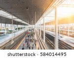 railroad platform from modern... | Shutterstock . vector #584014495