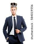 i am business king  portrait of ...   Shutterstock . vector #584019556