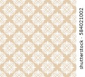 seamless ornamental pattern... | Shutterstock .eps vector #584021002