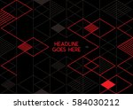 vector of abstract geometric... | Shutterstock .eps vector #584030212
