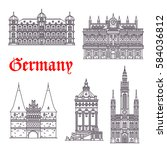 german historic architecture... | Shutterstock .eps vector #584036812