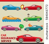 car insurance service | Shutterstock .eps vector #584043772