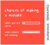 chances of making a mistakes  ... | Shutterstock .eps vector #584043952