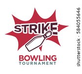 bowling tournament poster or...