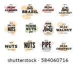 Organic Food Logos Set With...