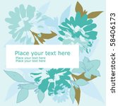floral background | Shutterstock .eps vector #58406173