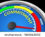 commitment level to maximum... | Shutterstock . vector #584063032
