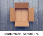 flat lay of empty open... | Shutterstock . vector #584081776