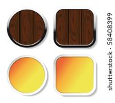 vector wood buttons and yellow... | Shutterstock .eps vector #58408399