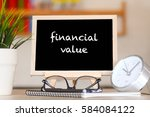 business finance office and... | Shutterstock . vector #584084122