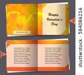 brochure template with love... | Shutterstock .eps vector #584086216
